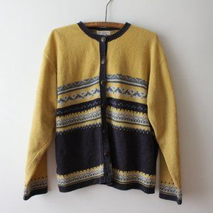 Vintage Yellow and Blue Cardigan/Sweater